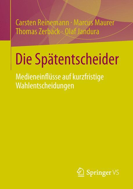 Cover of 'Die Spätentscheider'