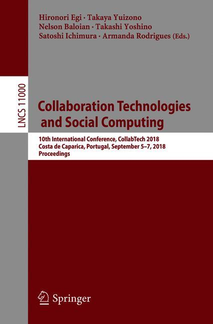 Cover of 'Collaboration Technologies and Social Computing'