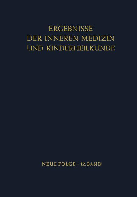 Cover of 'Ergebnisse der Inneren Medizin und Kinderheilkunde'