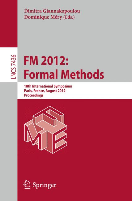 Cover of 'FM 2012: Formal Methods'