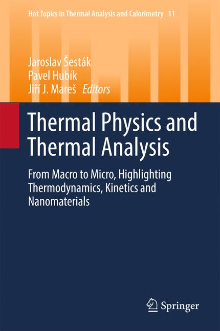Cover of 'Thermal Physics and Thermal Analysis'