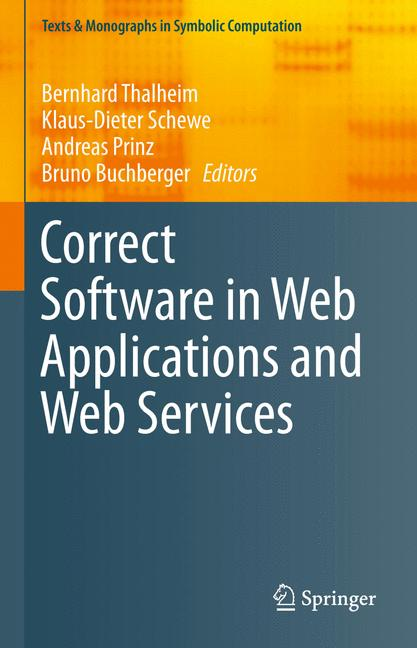 Cover of 'Correct Software in Web Applications and Web Services'