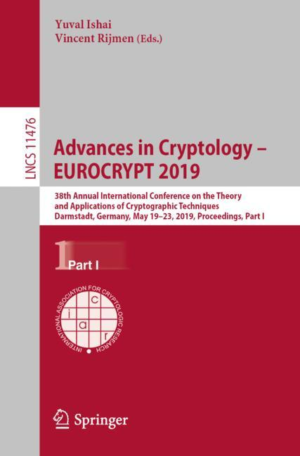 Cover of 'Advances in Cryptology – EUROCRYPT 2019'