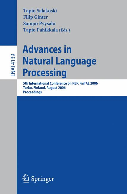 Cover of 'Advances in Natural Language Processing'