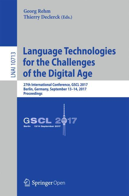 Cover of 'Language Technologies for the Challenges of the Digital Age'