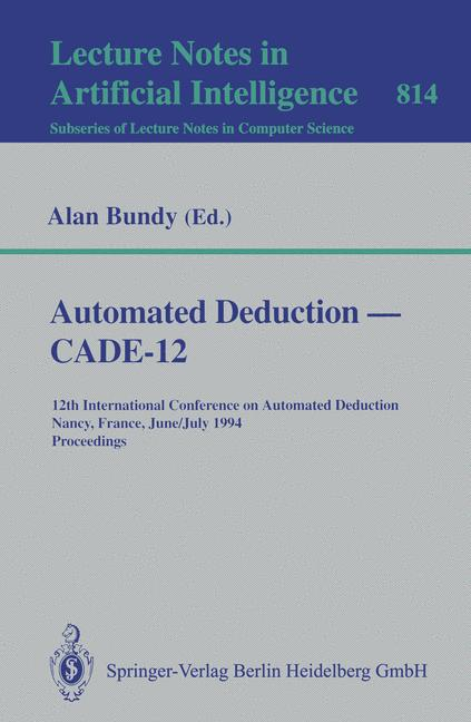 Cover of 'Automated Deduction, Cade-12.'