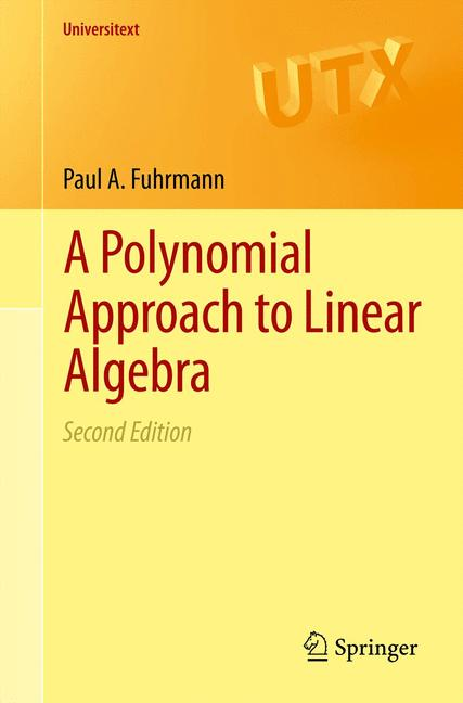 Cover of 'A polynomial approach to linear algebra'
