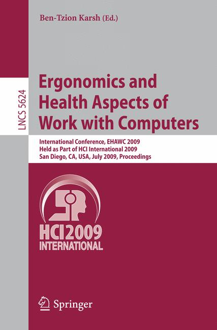 Cover of 'Ergonomics and Health Aspects of Work with Computers'