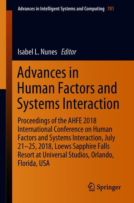 Cover of 'Advances in Human Factors and Systems Interaction'