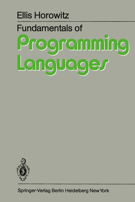 Cover of 'Fundamentals of Programming Languages'
