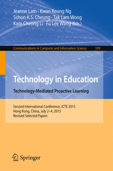 Cover of 'Technology in Education. Technology-Mediated Proactive Learning'