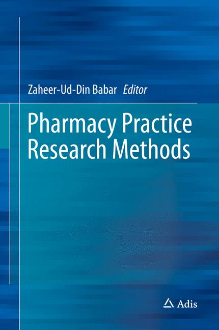 Cover of 'Pharmacy Practice Research Methods'