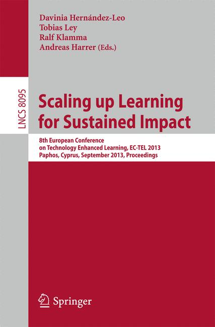 Cover of 'Scaling up Learning for Sustained Impact'