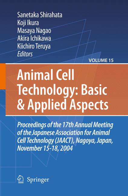 Cover of 'Animal Cell Technology: Basic & Applied Aspects'
