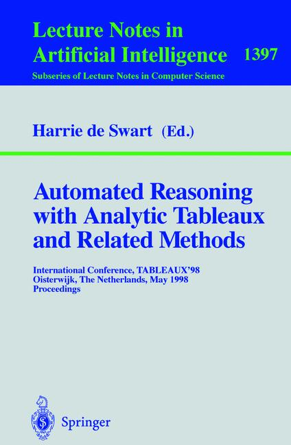 Cover of 'Automated Reasoning with Analytic Tableaux and Related Methods'