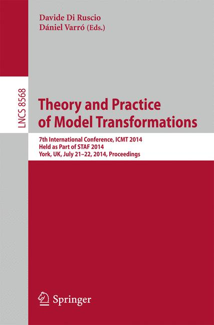 Cover of 'Theory and Practice of Model Transformations'