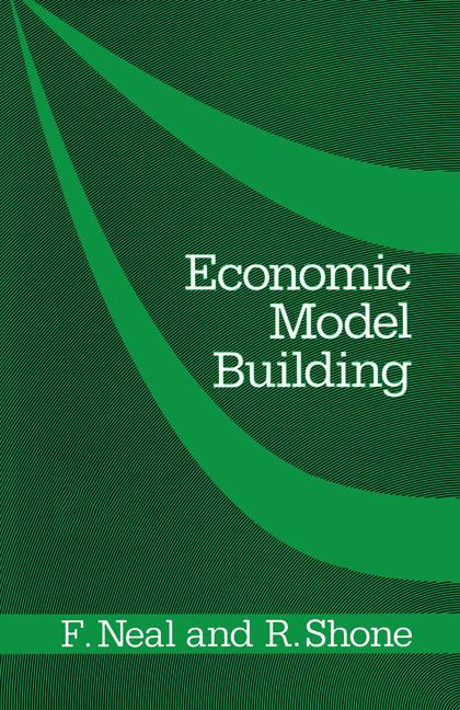 Cover of 'Economic model building'