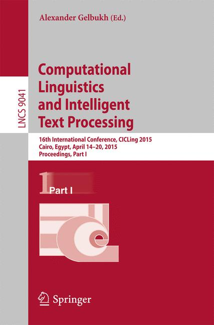 Cover of 'Computational Linguistics and Intelligent Text Processing'