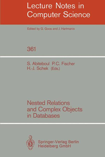 Cover of 'Nested Relations and Complex Objects in Databases'