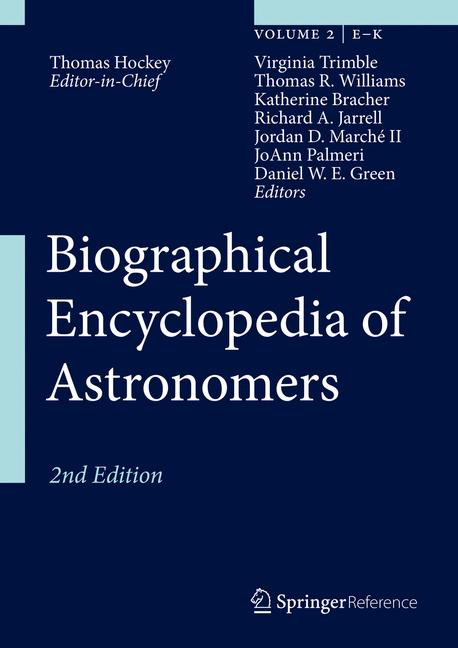 Cover of 'Biographical Encyclopedia of Astronomers'