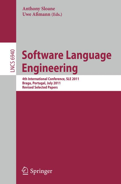Cover of 'Software Language Engineering'