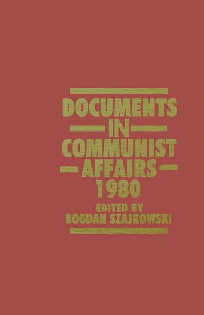 Cover of 'Documents in Communist Affairs, 1980'