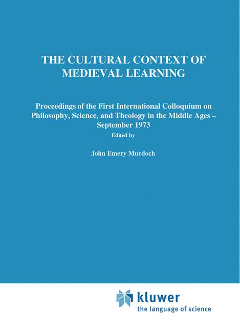 Cover of 'The Cultural Context of Medieval Learning'