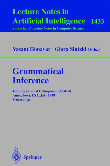 Cover of 'Grammatical Inference'