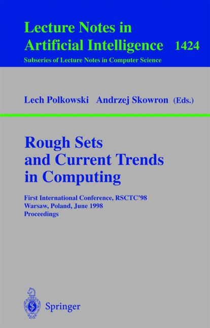 Cover of 'Rough Sets and Current Trends in Computing'