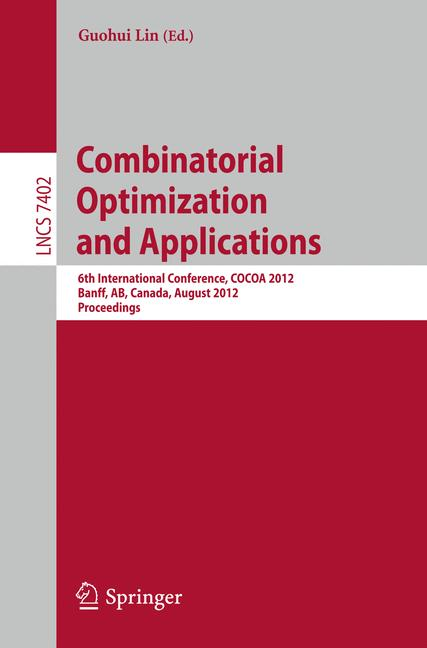 Cover of 'Combinatorial Optimization and Applications'