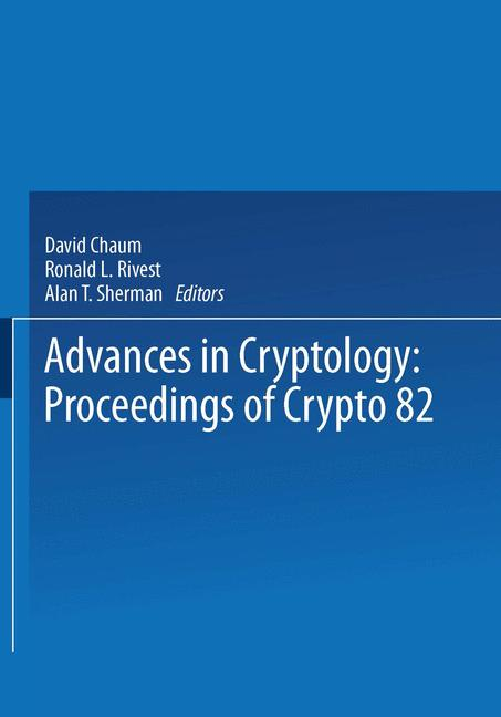 Cover of 'Advances in Cryptology'