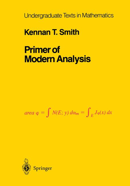 Cover of 'Primer of Modern Analysis'