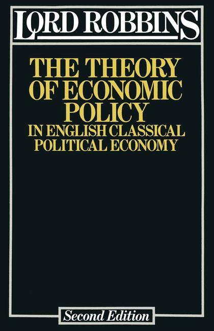 Cover of 'The Theory of Economic Policy'