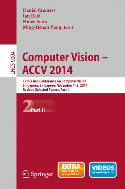 Cover of 'Computer Vision -- ACCV 2014'