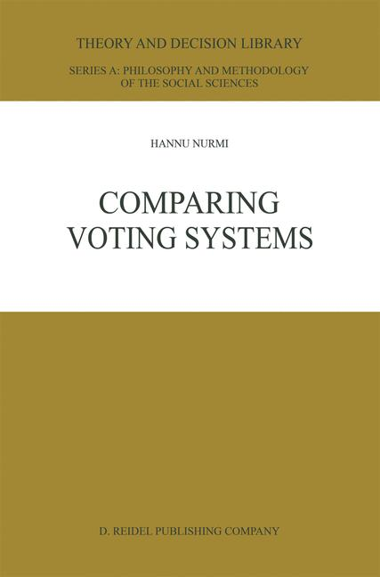 Cover of 'Comparing Voting Systems'