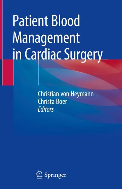 Cover of 'Patient Blood Management in Cardiac Surgery'