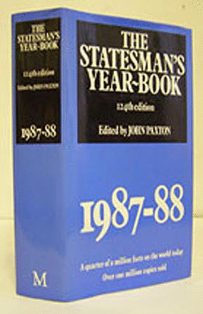 Cover of 'The Statesman's Year-Book 1987-88'