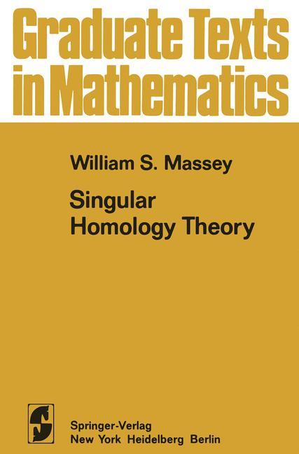 Cover of 'Singular Homology Theory'
