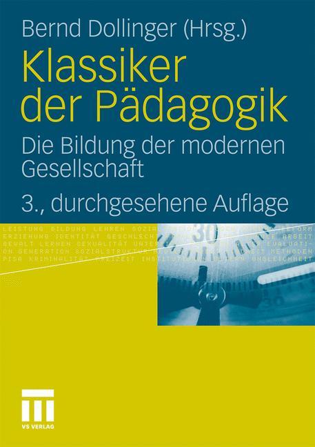 Cover of 'Klassiker der Pädagogik'