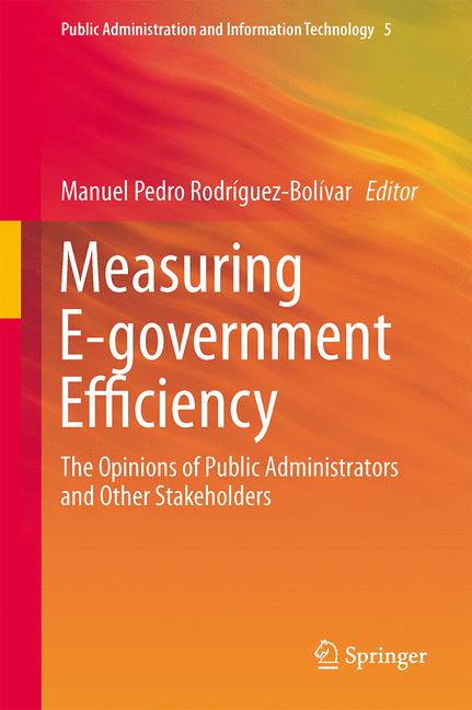 Cover of 'Measuring E-government Efficiency'