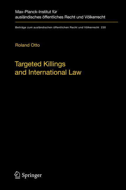 Cover of 'Targeted Killings and International Law'