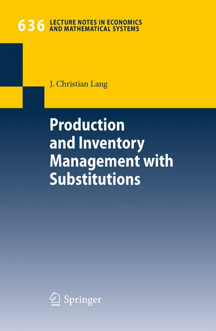 Cover of 'Production and Inventory Management with Substitutions'