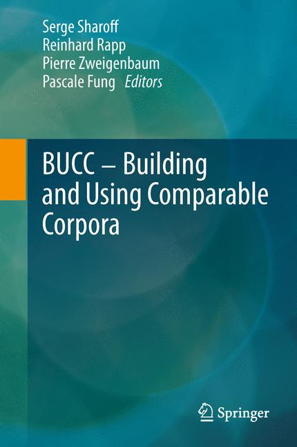 Cover of 'Building and Using Comparable Corpora'