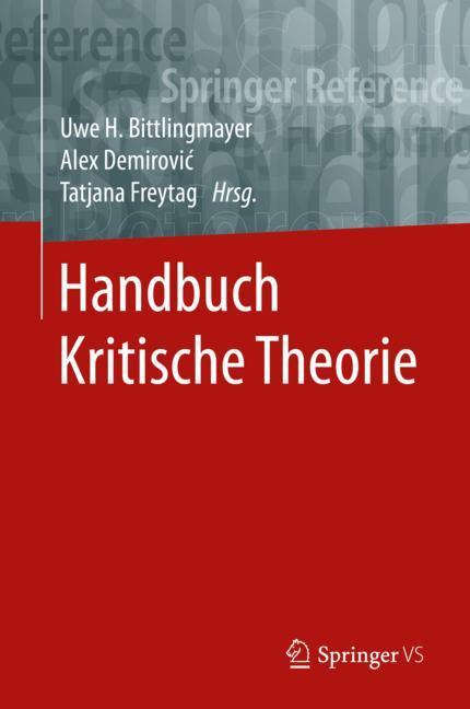 Cover of 'Handbuch Kritische Theorie'