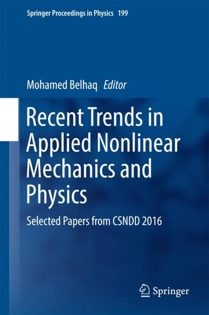 Cover of 'Recent Trends in Applied Nonlinear Mechanics and Physics'