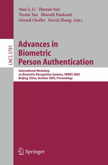 Cover of 'Advances in Biometric Person Authentication'