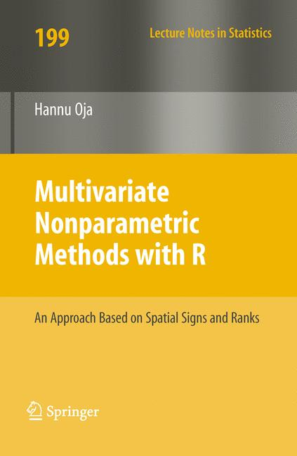 Cover of 'Multivariate Nonparametric Methods with R'
