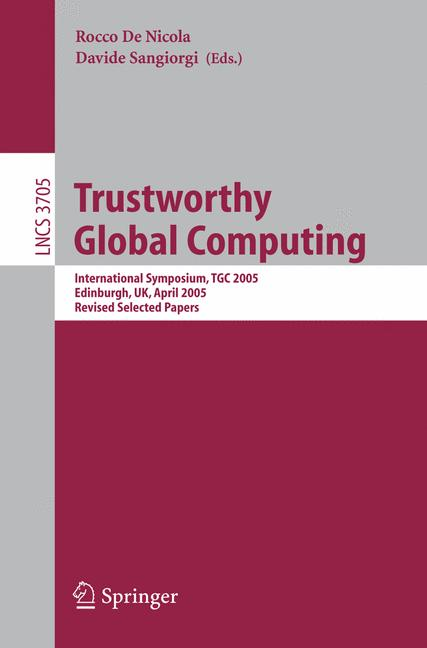 Cover of 'Trustworthy Global Computing'