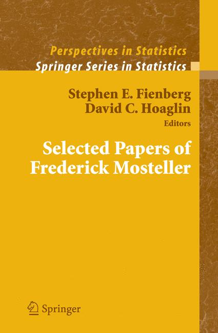 Cover of 'Selected Papers of Frederick Mosteller'