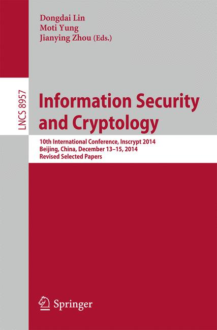 Cover of 'Information Security and Cryptology'